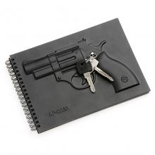 天晴设计 左轮手枪空白笔记本